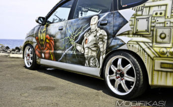 "Modifikasi ""The Rise Of Iron Man"" Daihatsu Xenia"